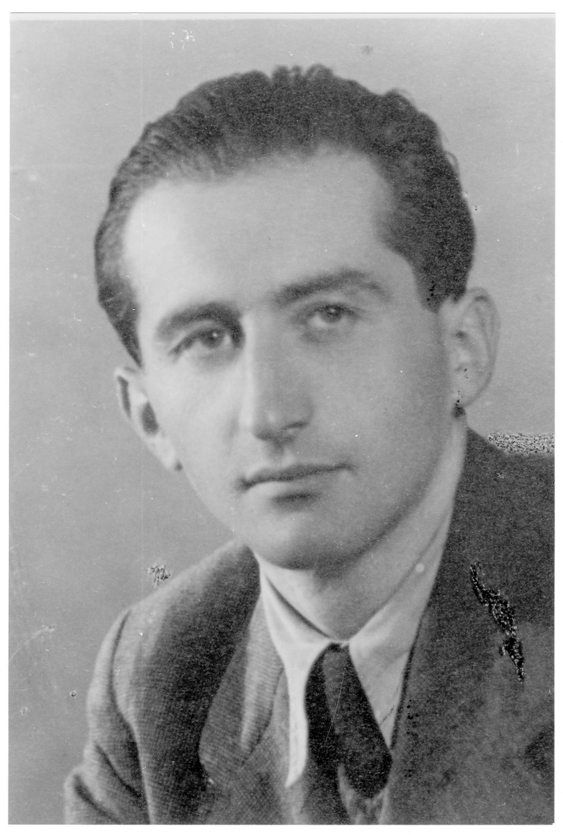 Portrait of Imre (Yitzhak) Herbst, a member of the Hungarian Zionist youth resistance organization.