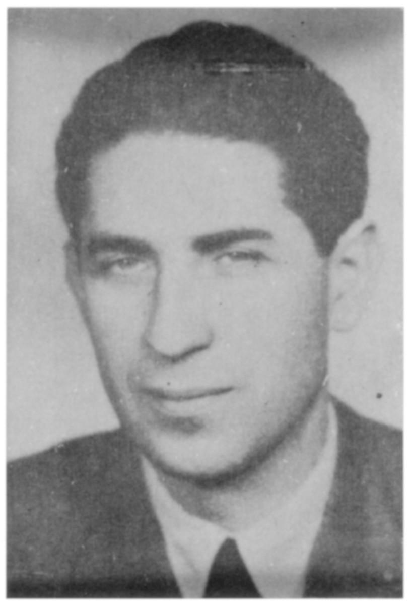 Portrait of Sandor (Alexander) Grossman, a member of the Hungarian Zionist youth resistance organization.
