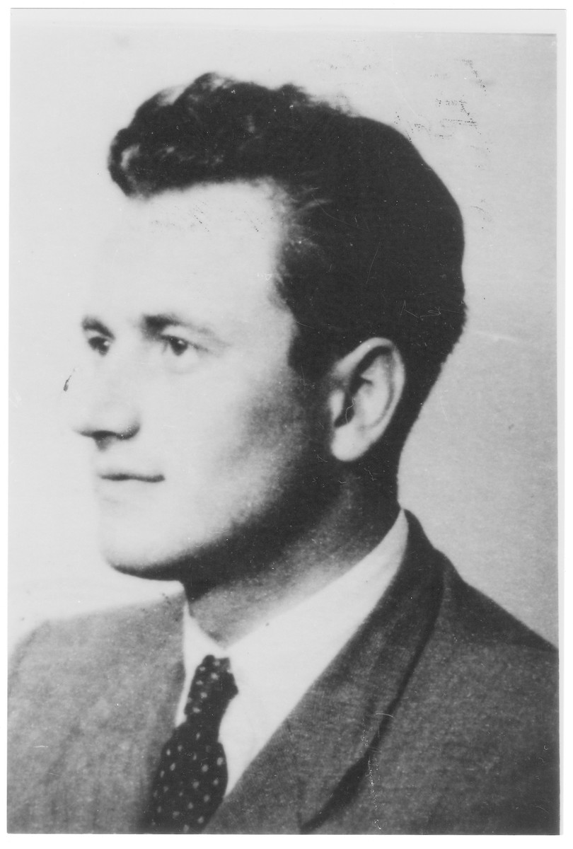 Portrait of Ferenc (Baruh) Eisinger, a member of the Hungarian Zionist youth resistance organization.