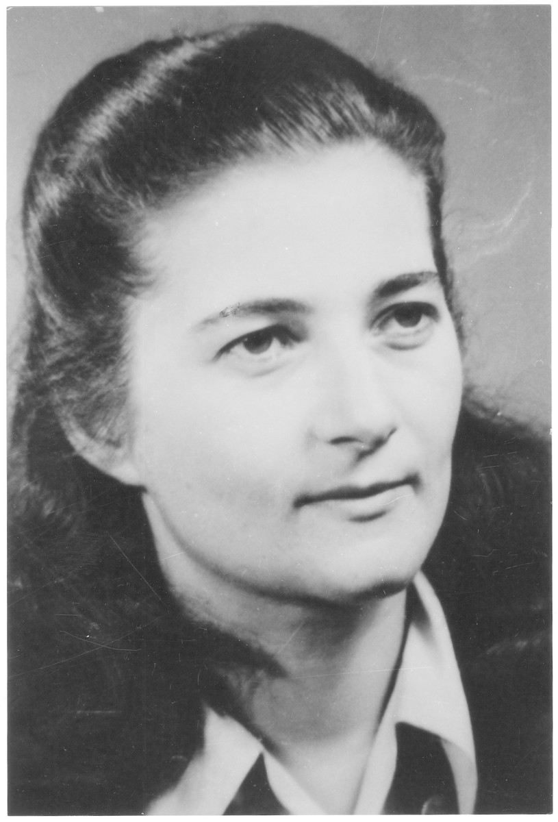 Portrait of Aniko Ganz (later Hanna Gruenfeld), a member of the Hungarian Zionist youth resistance organization.