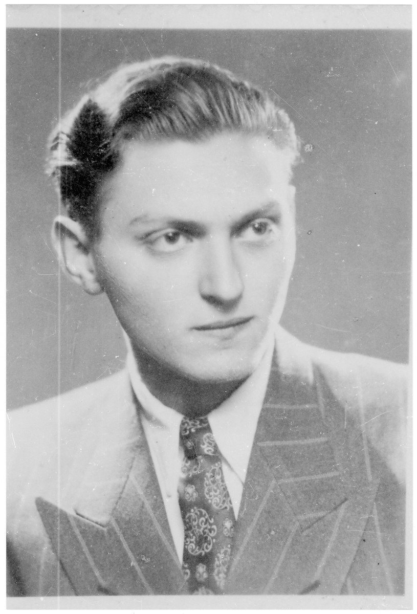 Portrait of Endre (Uri) Herman, a member of the Hungarian Zionist youth resistance organization.