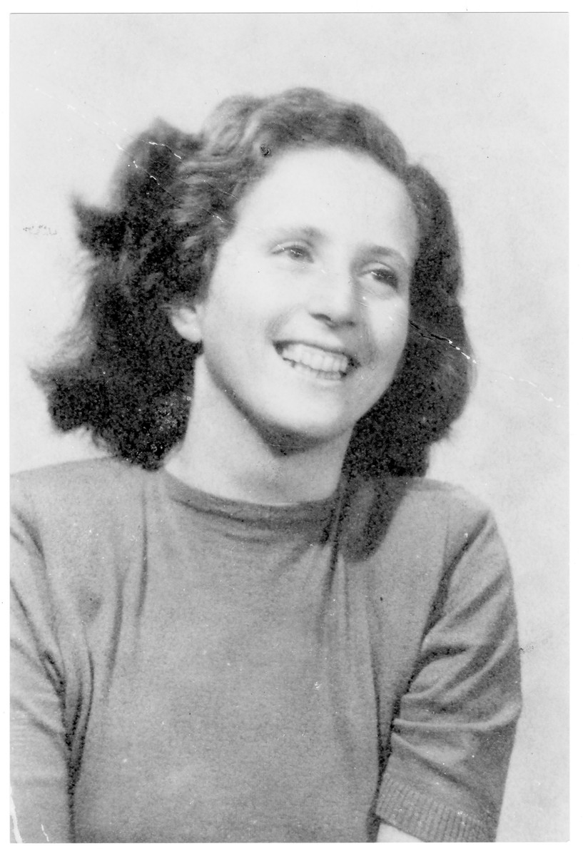 Portrait of Alice Edinger (later Dr. Alice Balazs), a member of the Hungarian Zionist youth resistance organization.