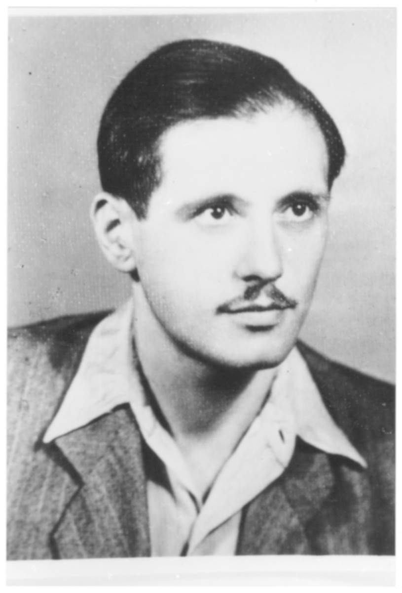 Portrait of Erno (Moshe) Weiszkopf, a member of the Hungarian Zionist youth resistance organization.