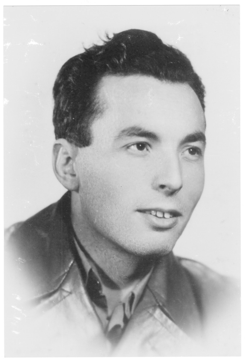 Portrait of Endre Feigenbaum (later Prof. Andrej Fabry), a member of the Hungarian Zionist youth resistance organization.