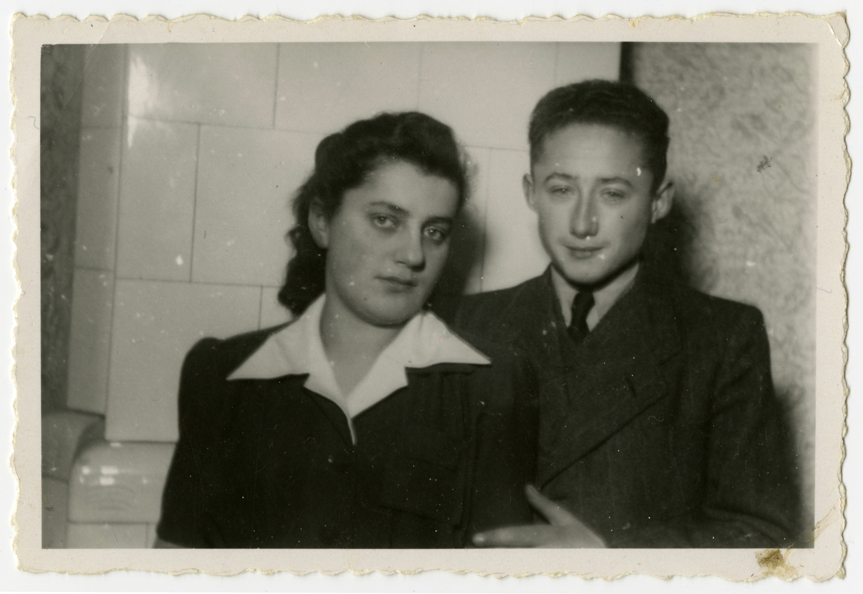 Ida Dawidowicz and Misha Zilist pose for photograph after the war.
