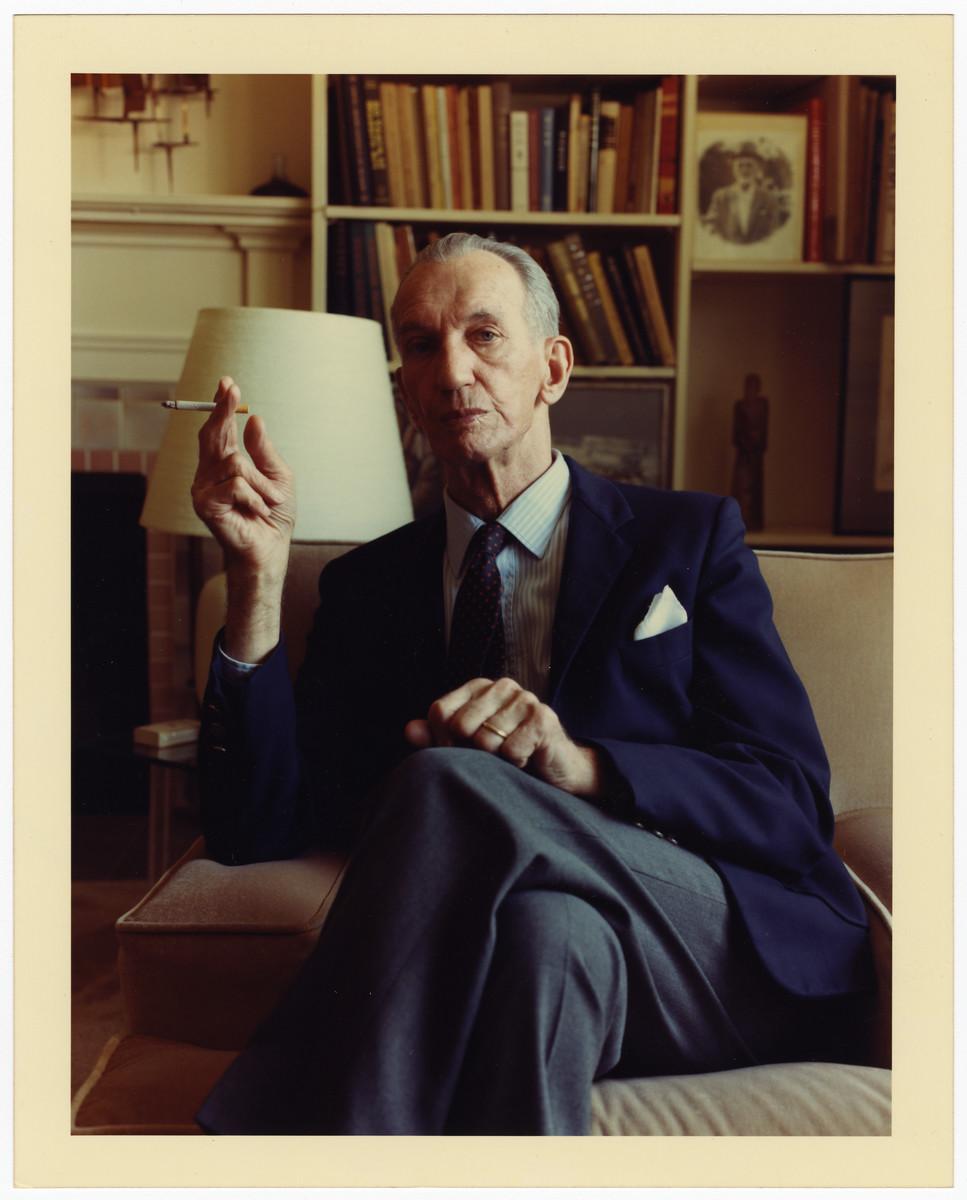 Portrait of Jan Karski in Bethesda, Maryland.