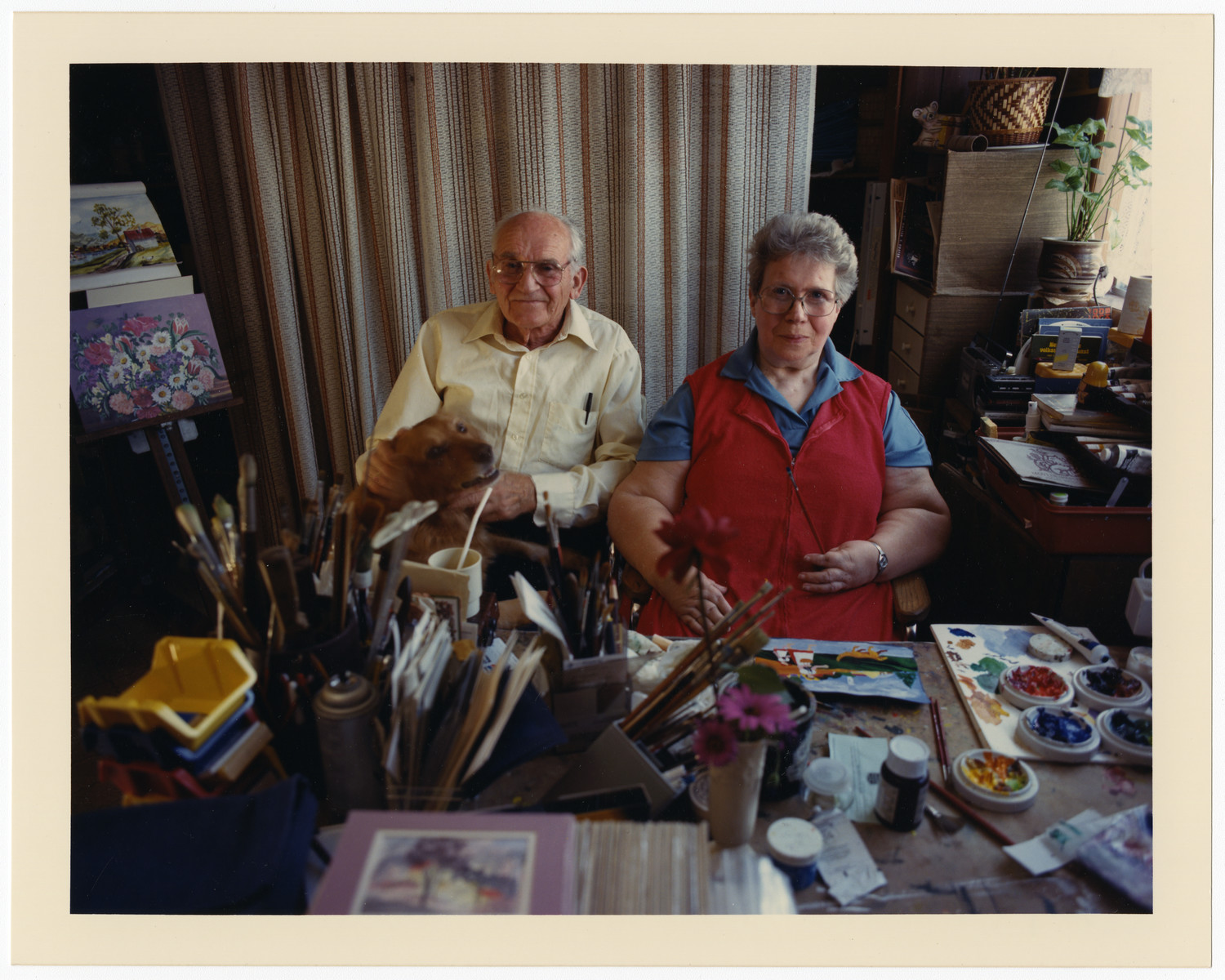 A portrait of Bert (Lizebertus) and Betty Bochove, taken in Lomita California. Bert Bochove was Netherland Holocaust rescuer during the war.