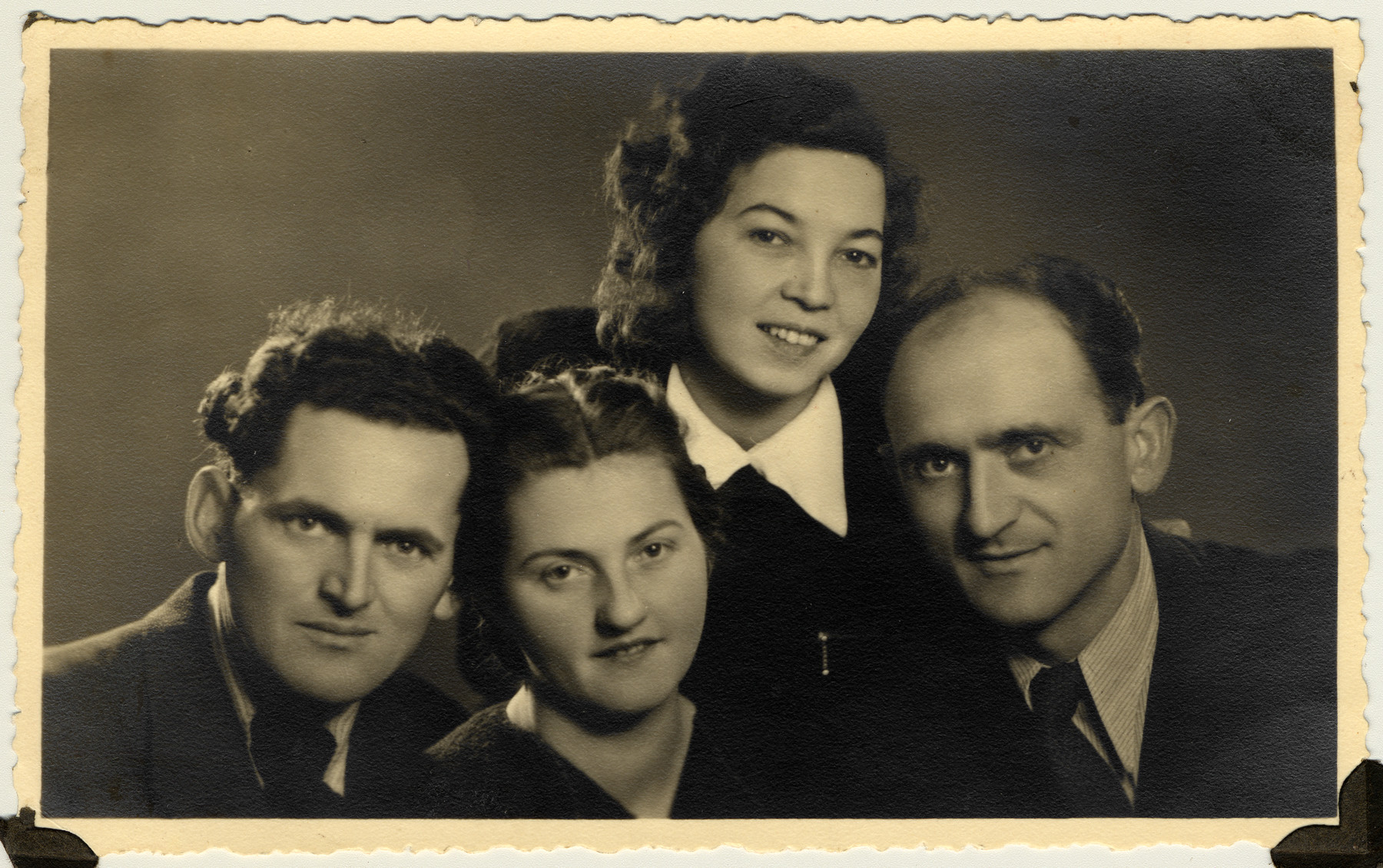 Giustina (Papo) Dragojevic and husband Jevrem, right, pose for a portrait with Jevrem's brother, Milan, and wife Ruza.