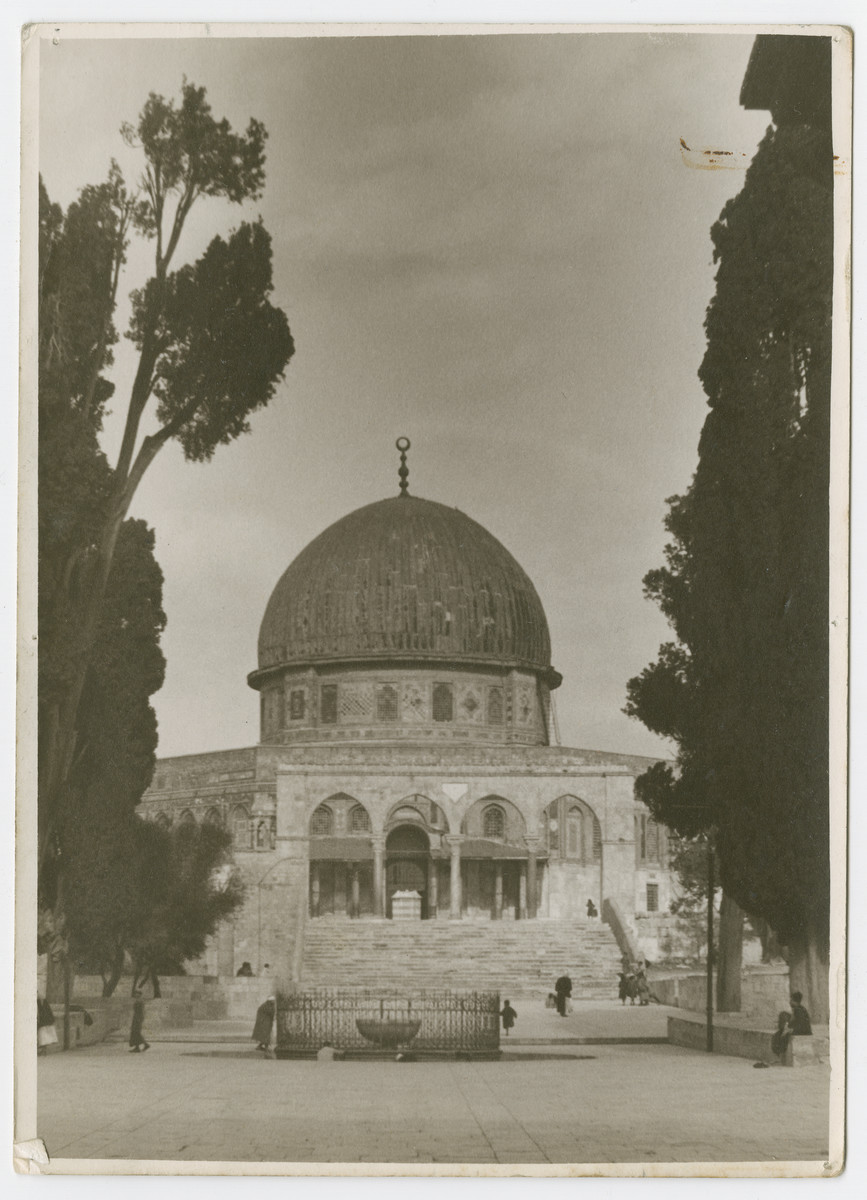 """View of the Dome of the Rock.   Photograph is used on page 278 of Robert Gessner's """"Some of My Best Friends are Jews."""""""