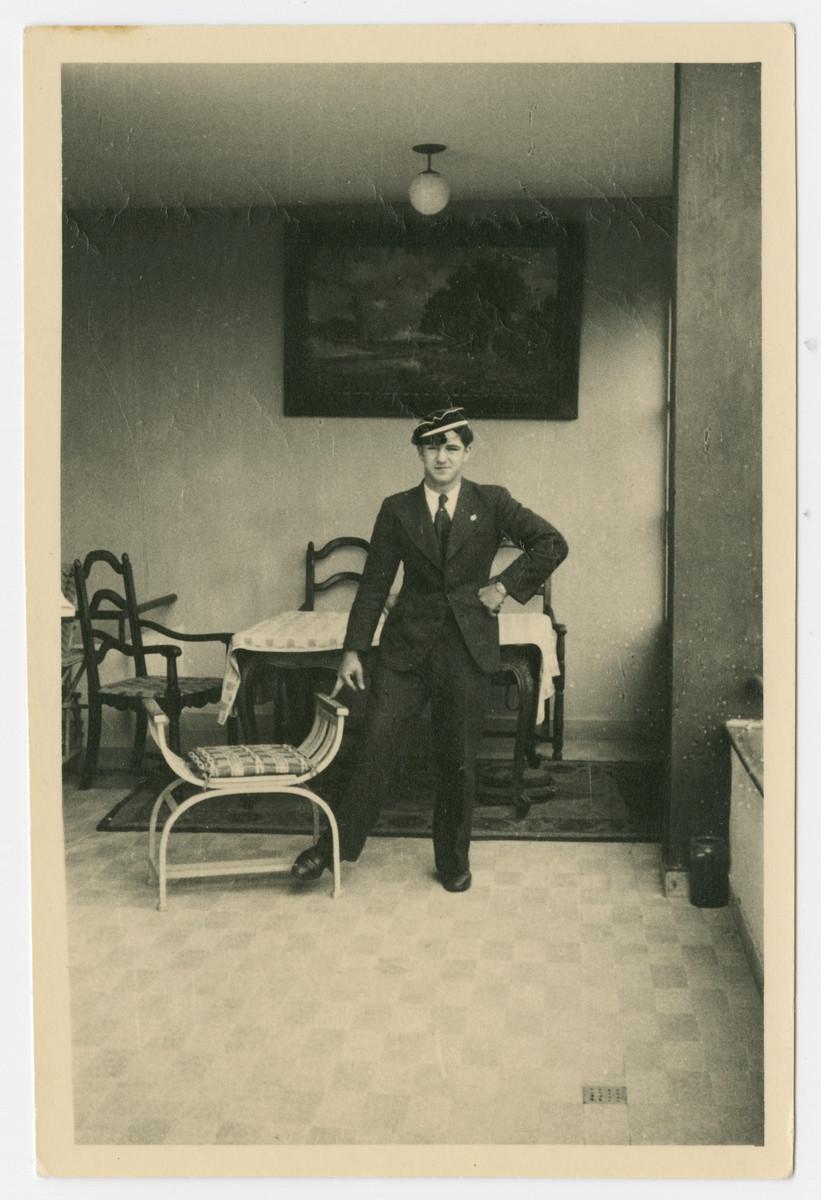 Photograph of Helmut Isenberg taken in the family residence in Vaduz, Liechtenstein.