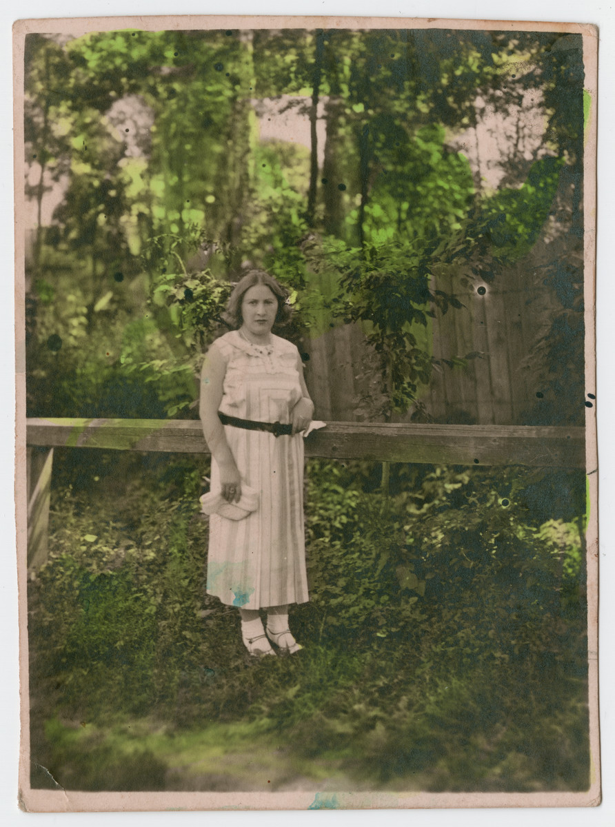 "Portrait of Etka, the sister of Julius Ball.  The inscription on the back of the photograph (in German) reads, ""Remembrance of your sister, Etka, for my dear brother Julius, Kolomea, 9/22/1932.""  Etka later perished in the Holocaust."