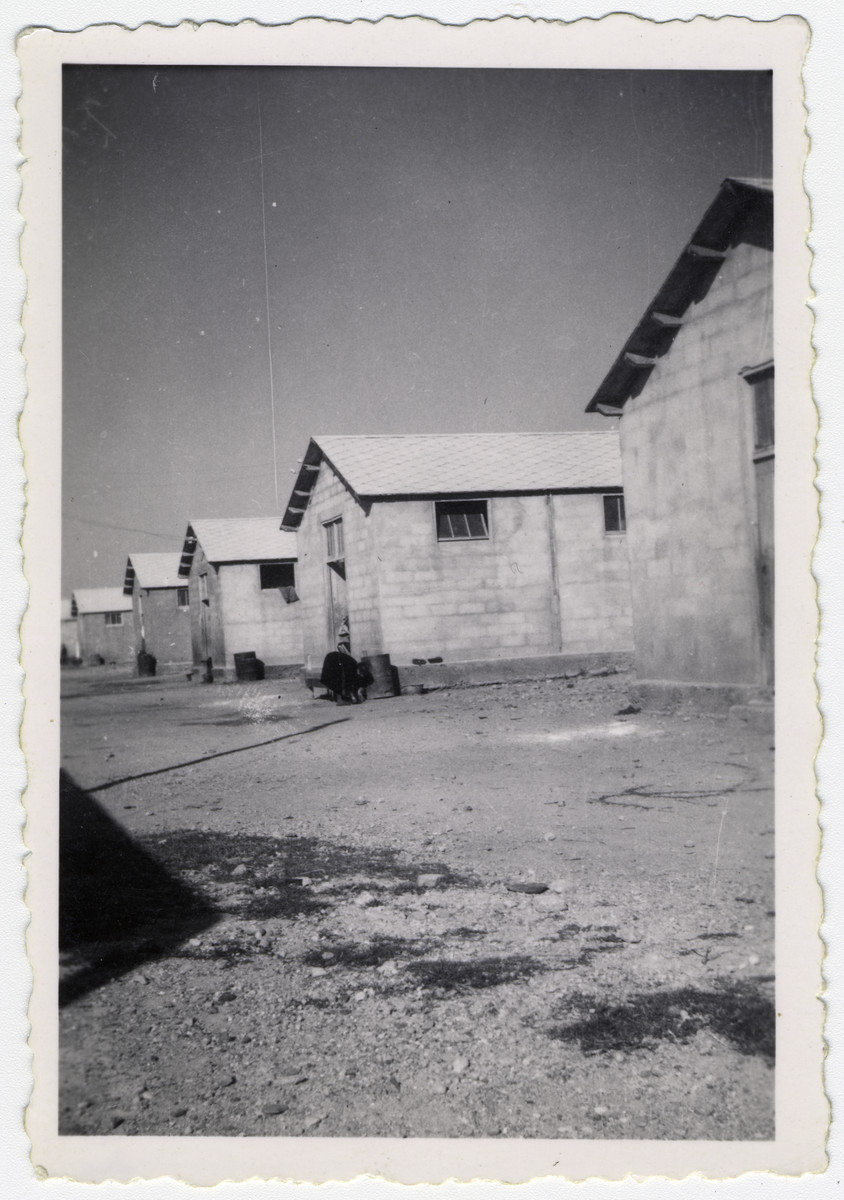 View of the barracks in the Rivesaltes internment camp.