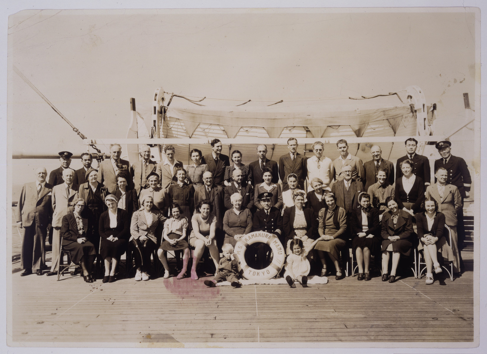 The passengers on the M. S. Kamakura Maru en route to the United States.