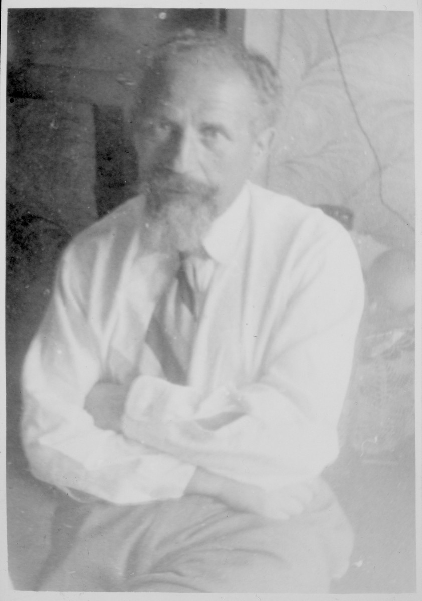 "Postwar photograph of Bernard Goldsztejn, author of ""The Stars Bear Witness."""