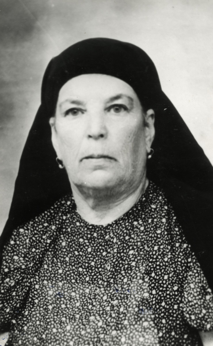 Studio portrait of Missa Tayar, Raoul Tayar's grandmother.