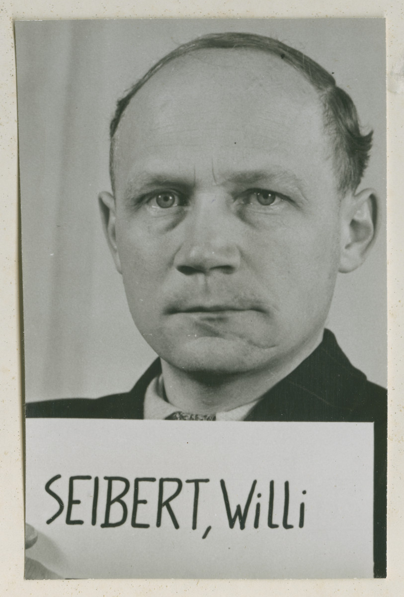 Defendant Willi Seibert at the Einsatzgruppen Trial.  Seibert was the Deputy Chief of Einsatzgruppe D.