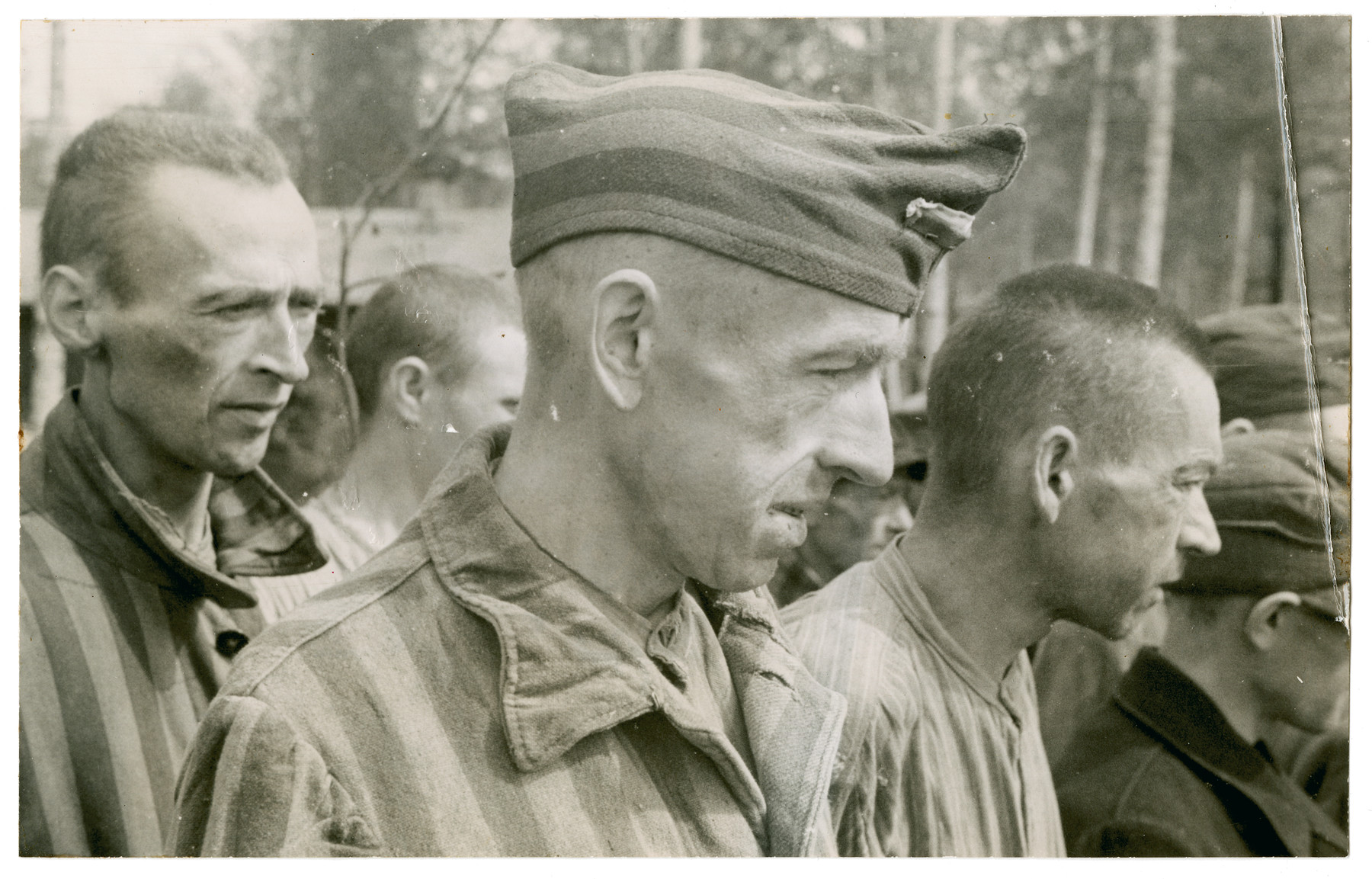 Survivors from the Langenstein-Zwieberge concentration camp.