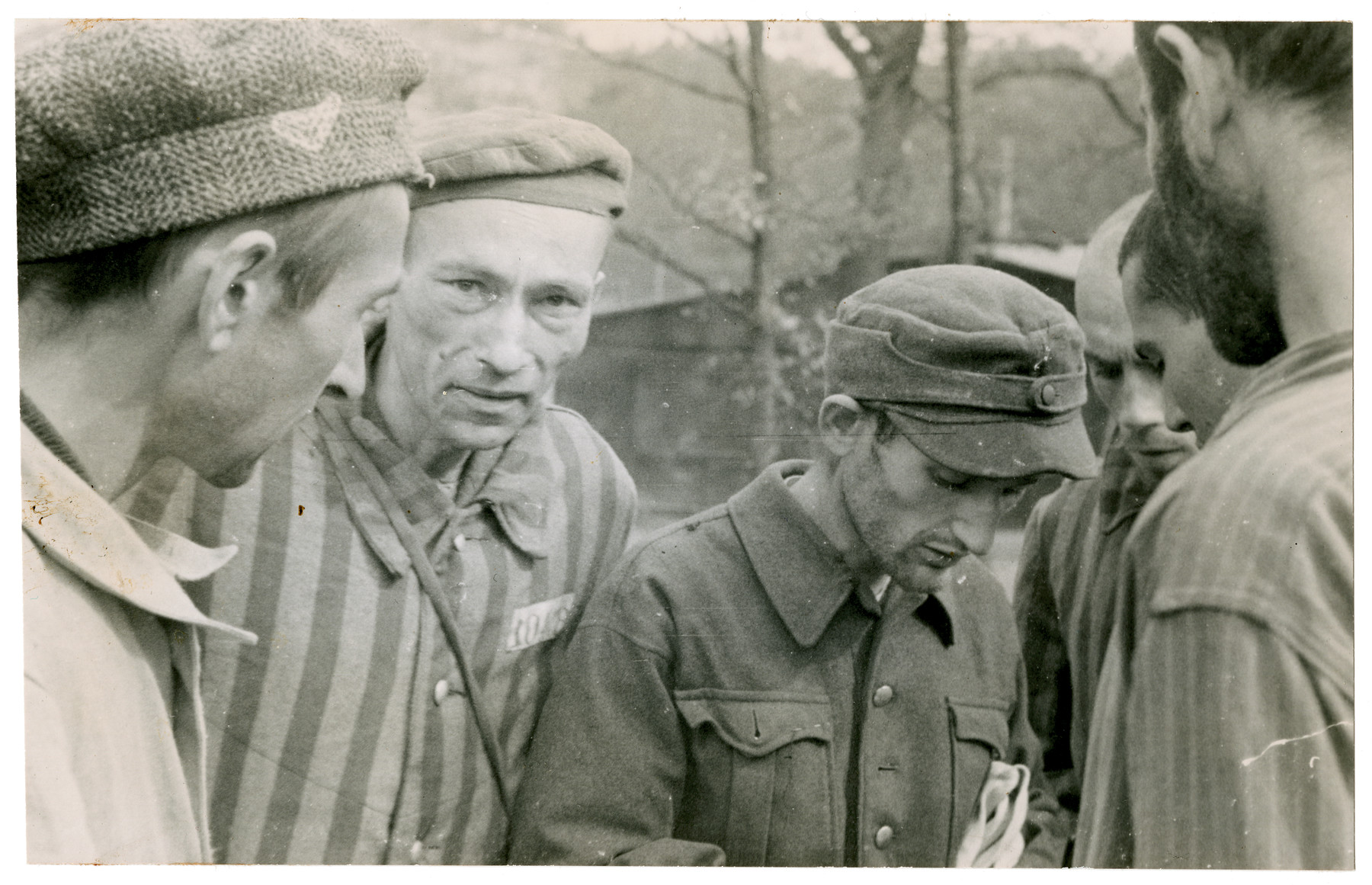 Survivors from the Langenstein-Zwieberge concentration camp.