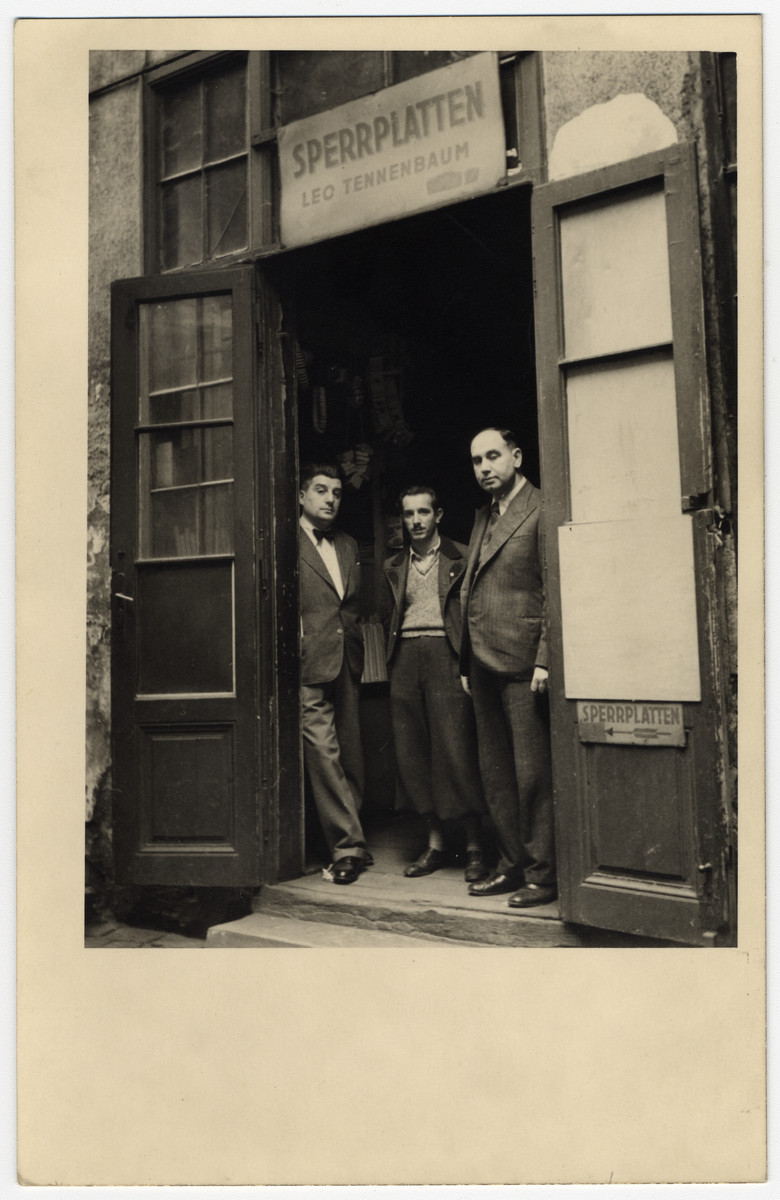 A picture of the entrance of the warehouse owned by Leo Tennenbaum (Mark's father).  Located in Vienna X, Favoriten Strasse 87, the warehouse also sold types of plywood.