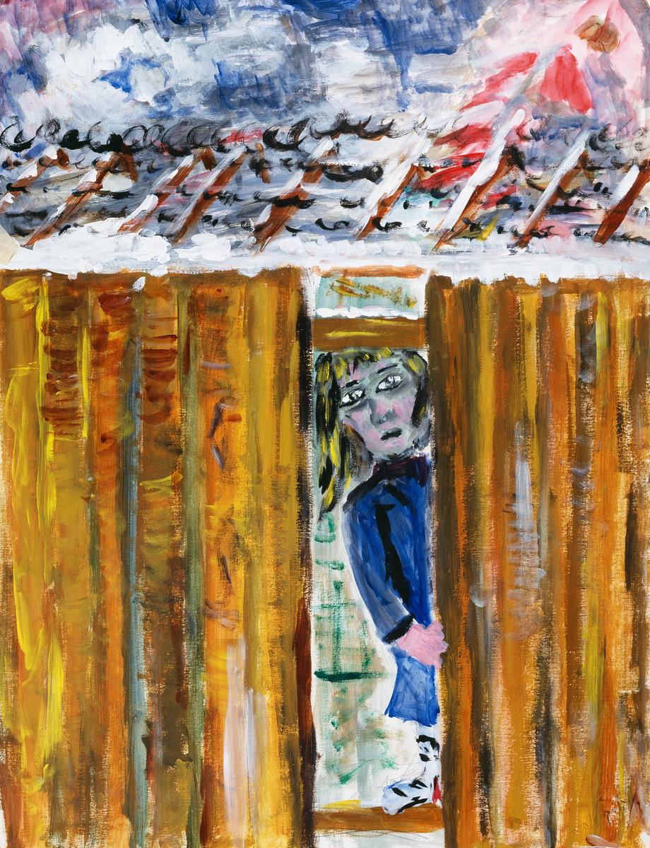 A painting by artist Sophia Kalski.