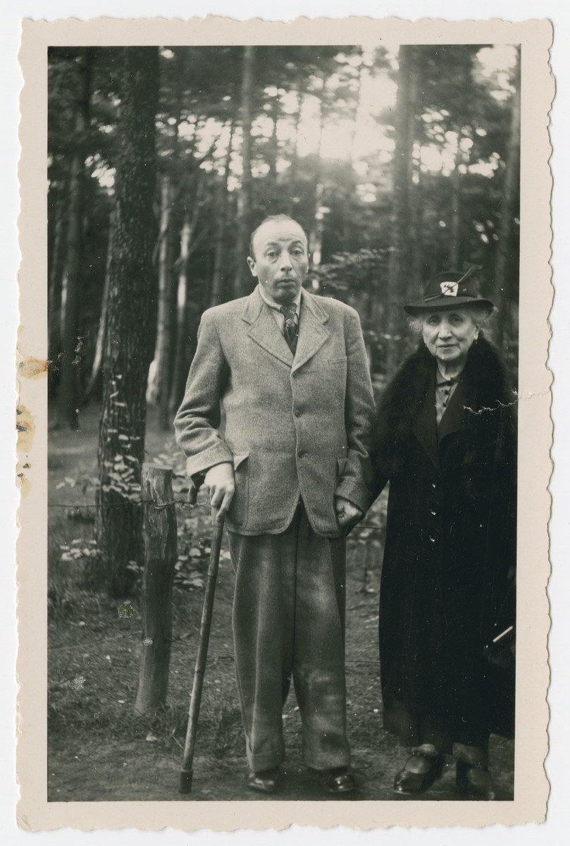 Helene and Arthur in a Hannover forest,  one of the last photos their family in the U.S. received; mother and son were deported to Theresienstadt on July 23, 1942.