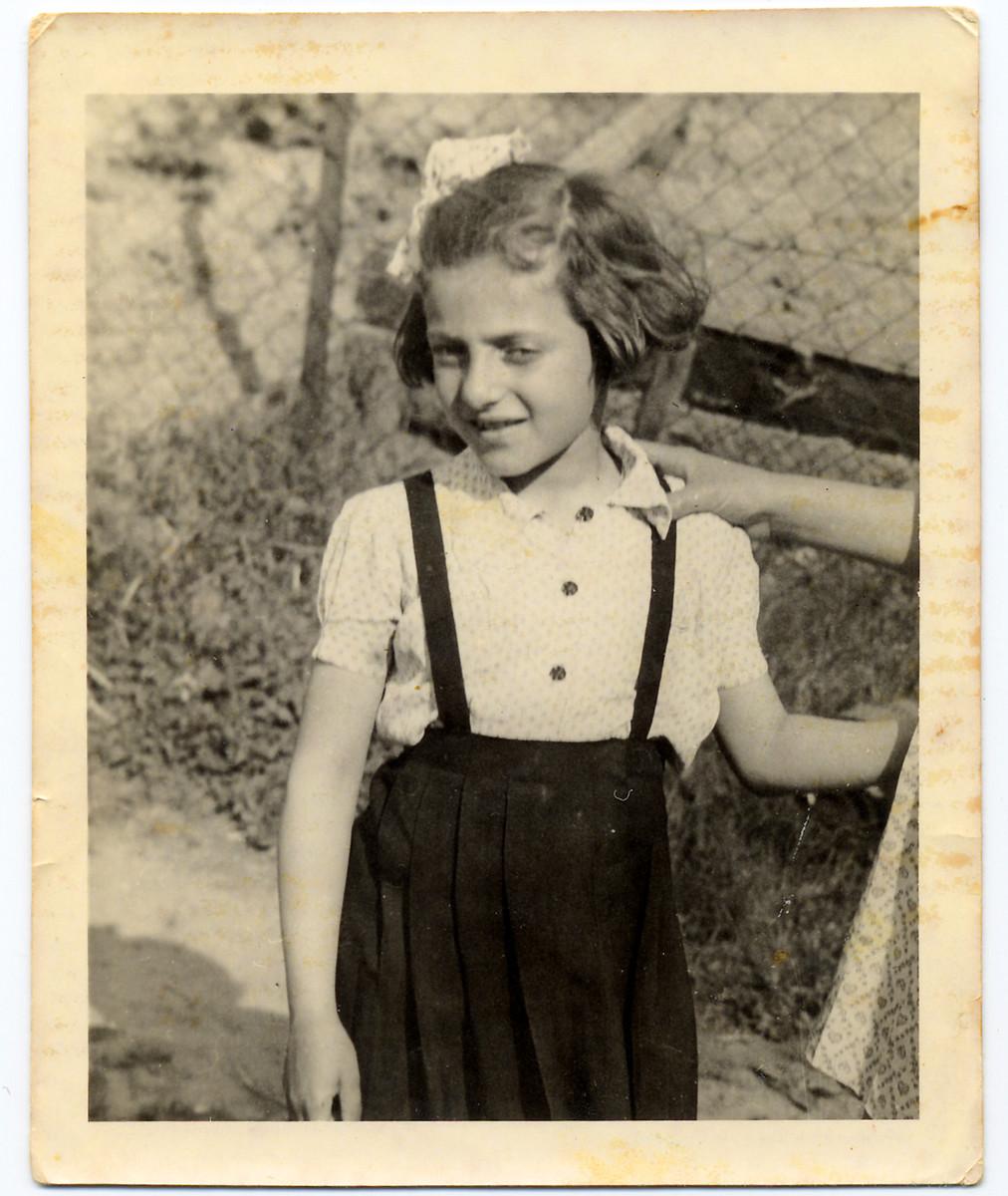 Portrait of Elzbieta Elza Schwarzwald shortly after liberation.