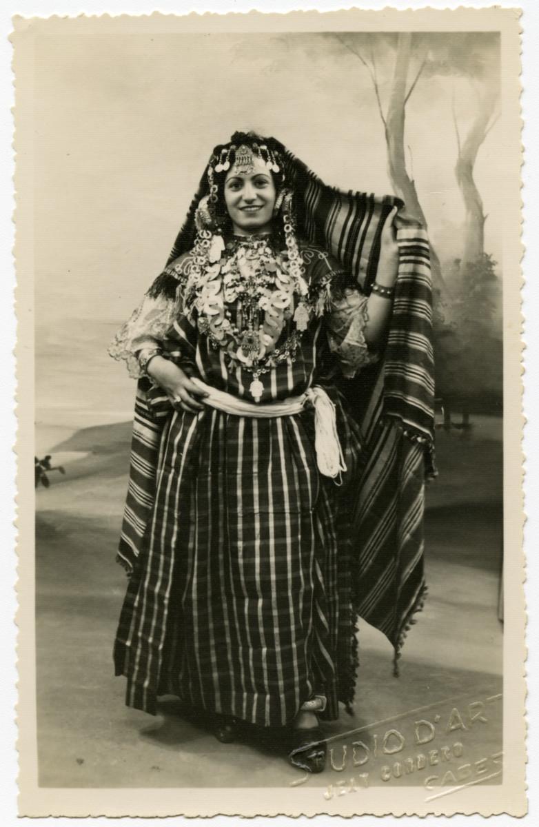 Daisy Seror poses in a traditional Tunisian costume.