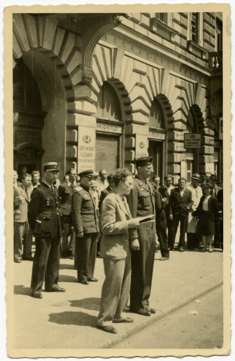 Thomas Field (Moniek Klugman) translates for Gen. William Yarborough, head of the Four Power International Patrol in Vienna.