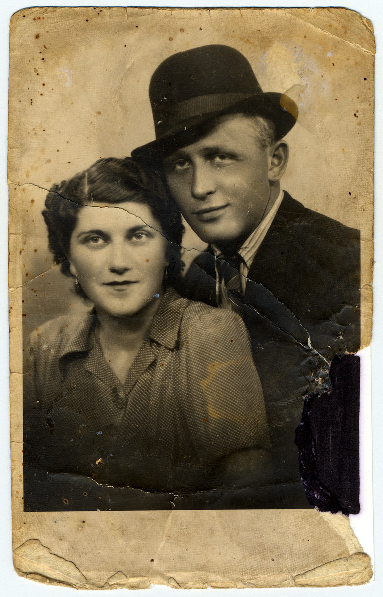 Engagement photograph of Rozaliya Stern and Sruli.  He did not survive the war.