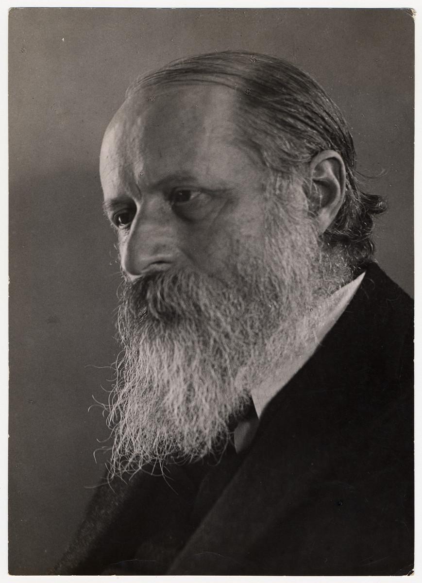 Studio portrait of Jewish philosopher, Martin Buber.