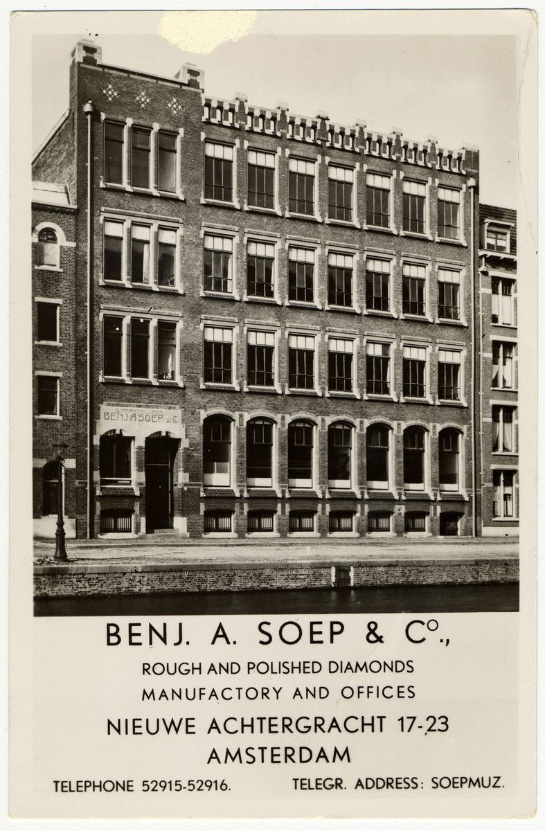 Exterior view of the Benjamin Soep diamond factory.