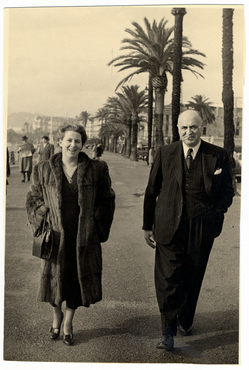 Abraham and Tonie Soep vacation in France a few years after their liberation from Bergen-Belsen.