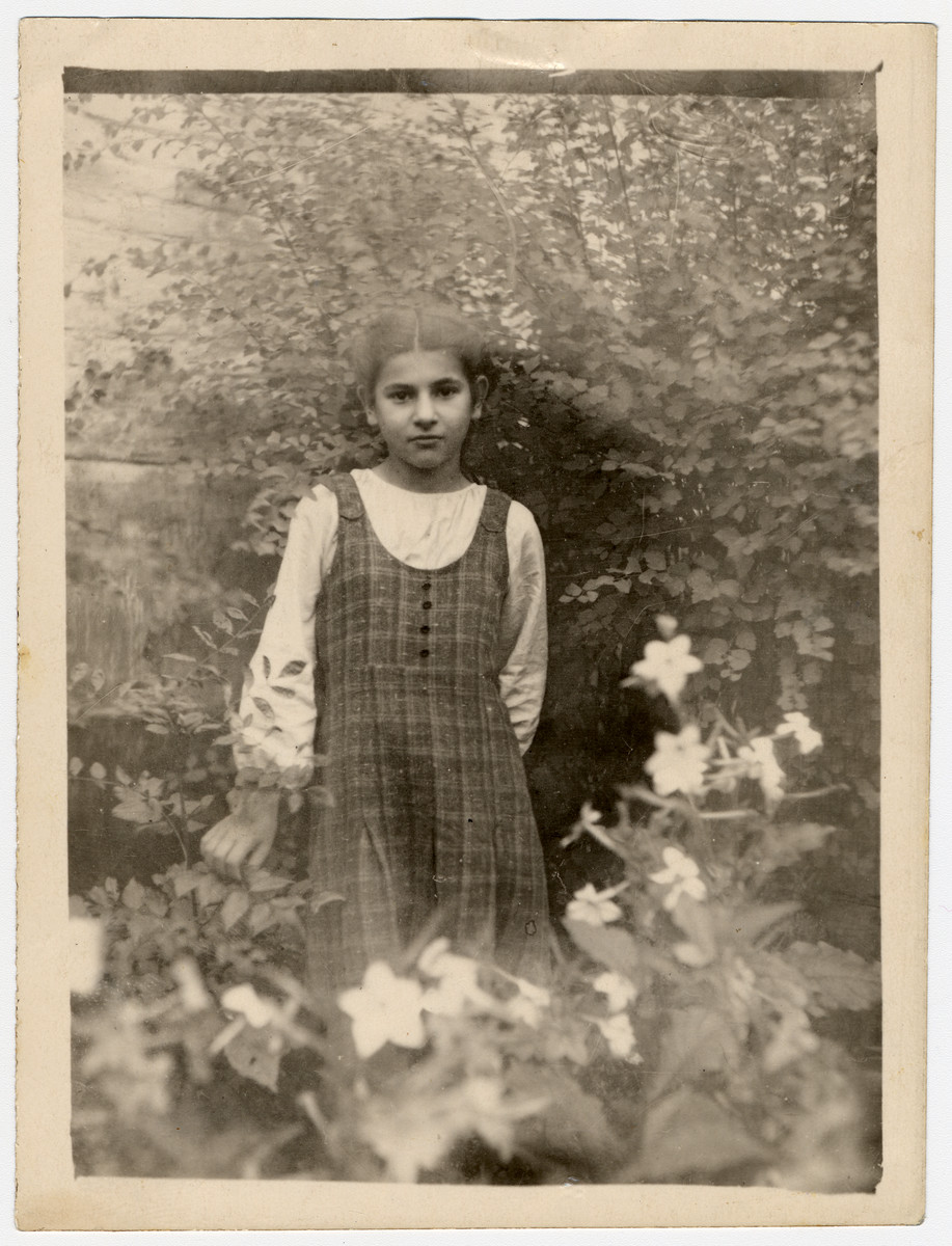 Postwar portrait of Fira Kaplan, a survivor of the Minsk ghetto.