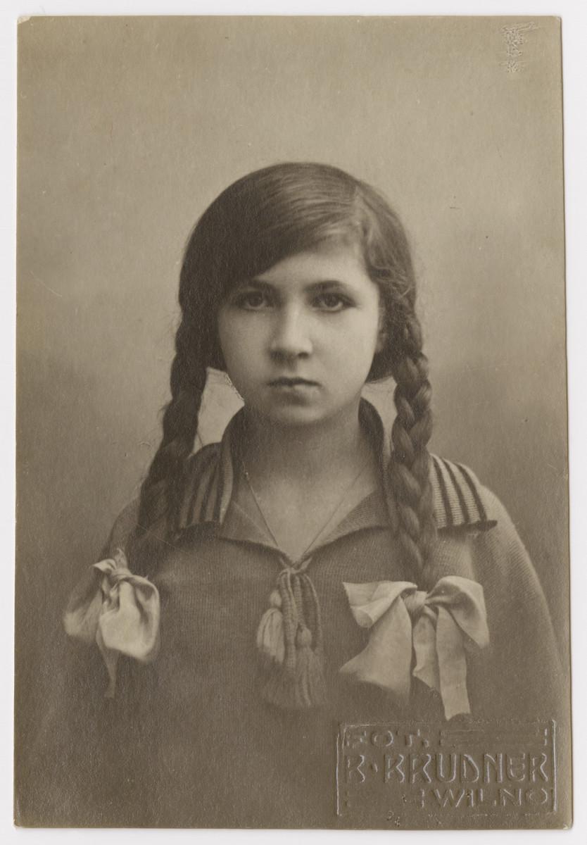 Studio portrait of Olynka Mirski.