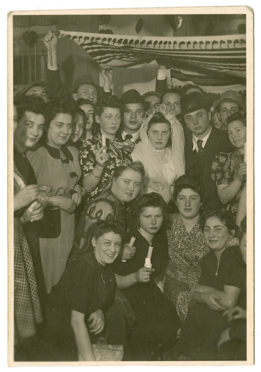 Wedding of Hela and Szulim Bronner in the Weiden displaced persons camp.