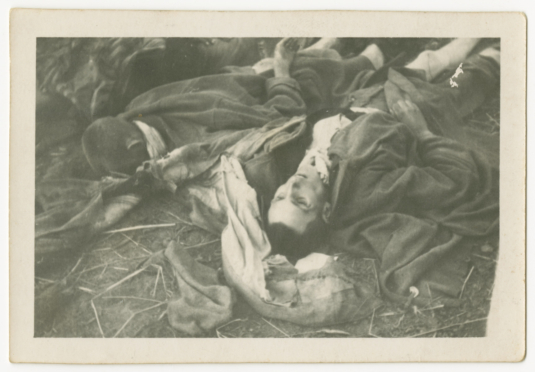 A pile of corpses at Woebbelin concentration camp.