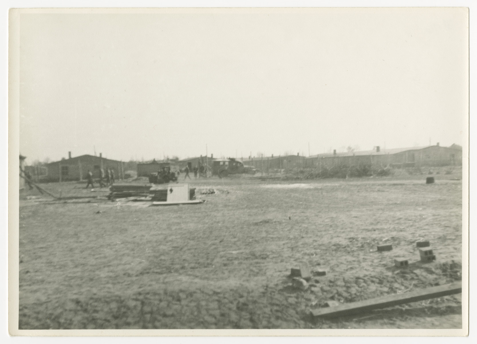 A view of the Woebbelin concentration camp after it was liberated.