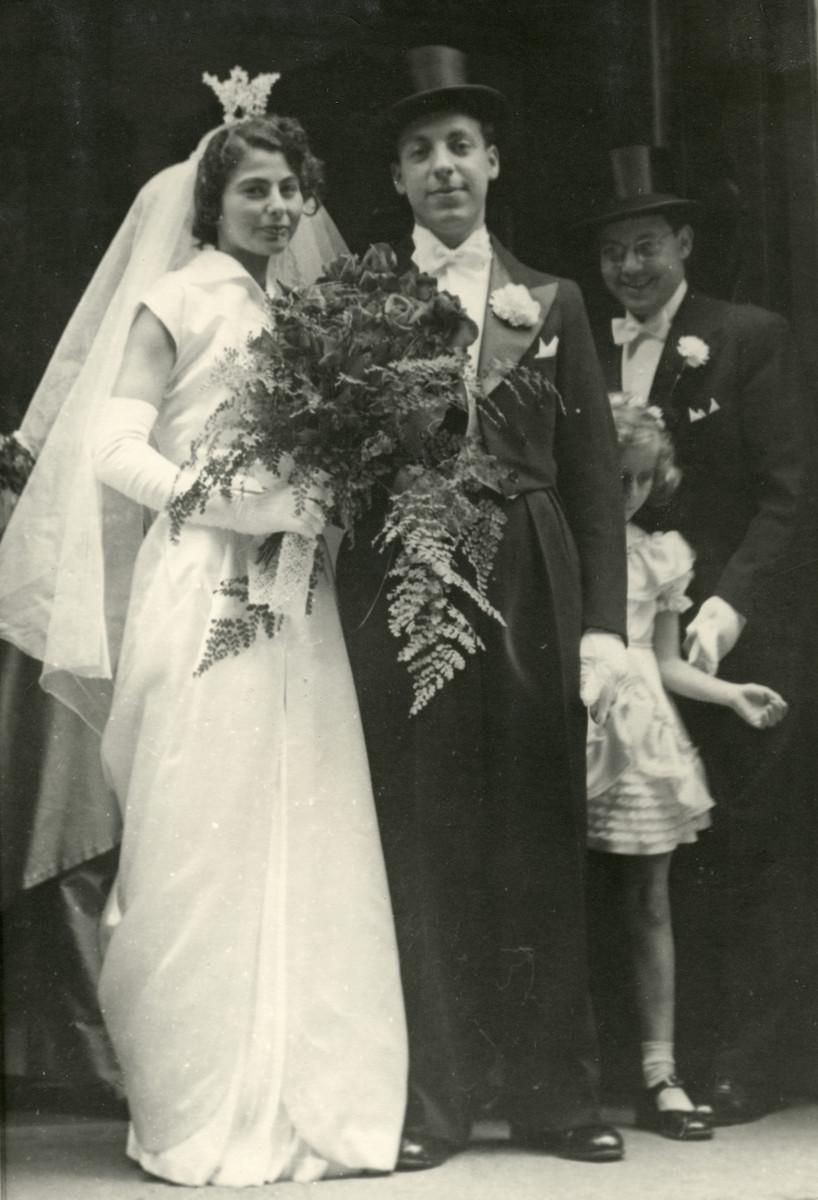 The wedding of Samuel Kishinovsky and Monica in wartime Sweden.