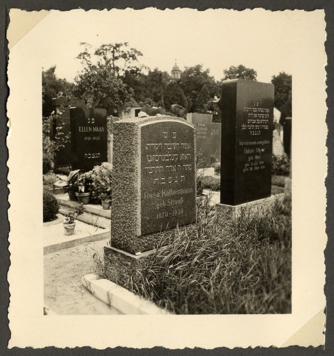 View of the tombstone of Rosa Kalbermann (1870-1934).