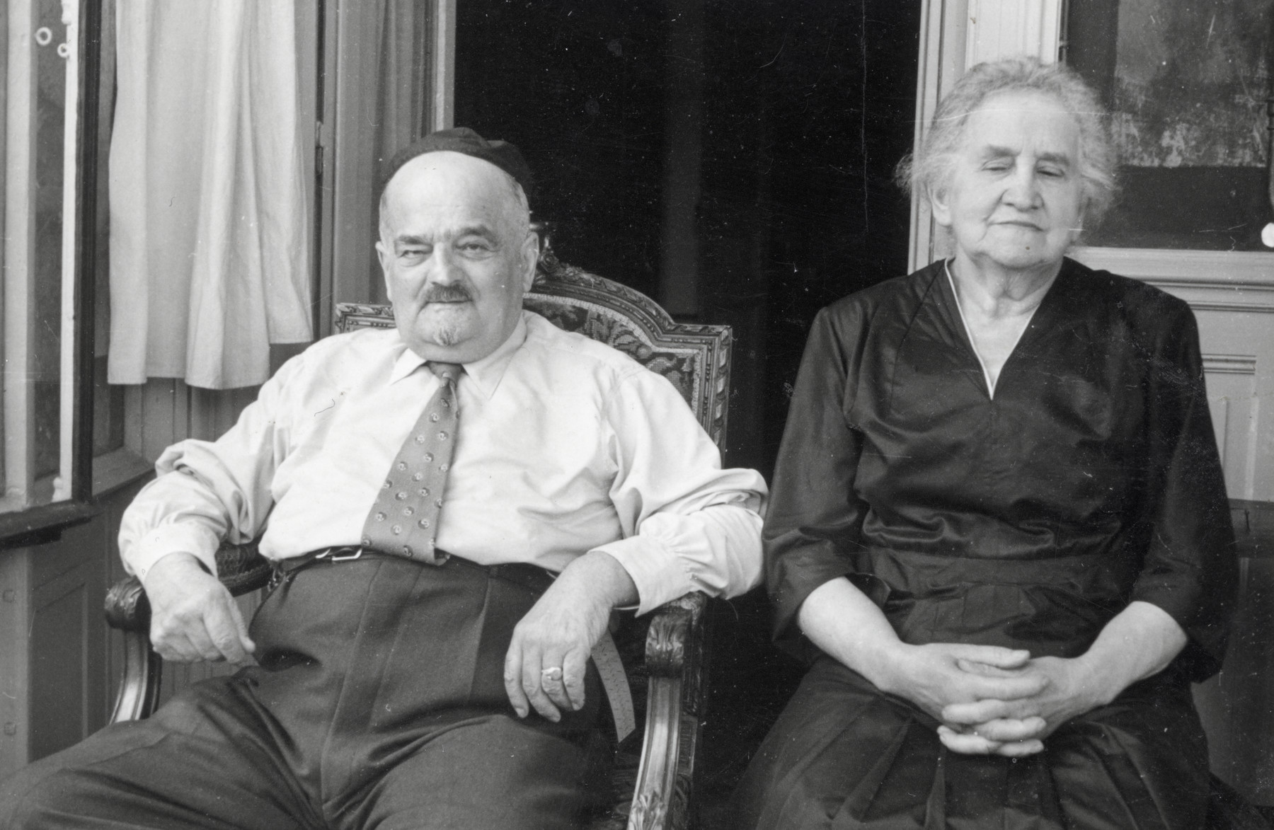 Postwar portraif of Albert Levy and Jeanne Belfort , grandparents of the donor.