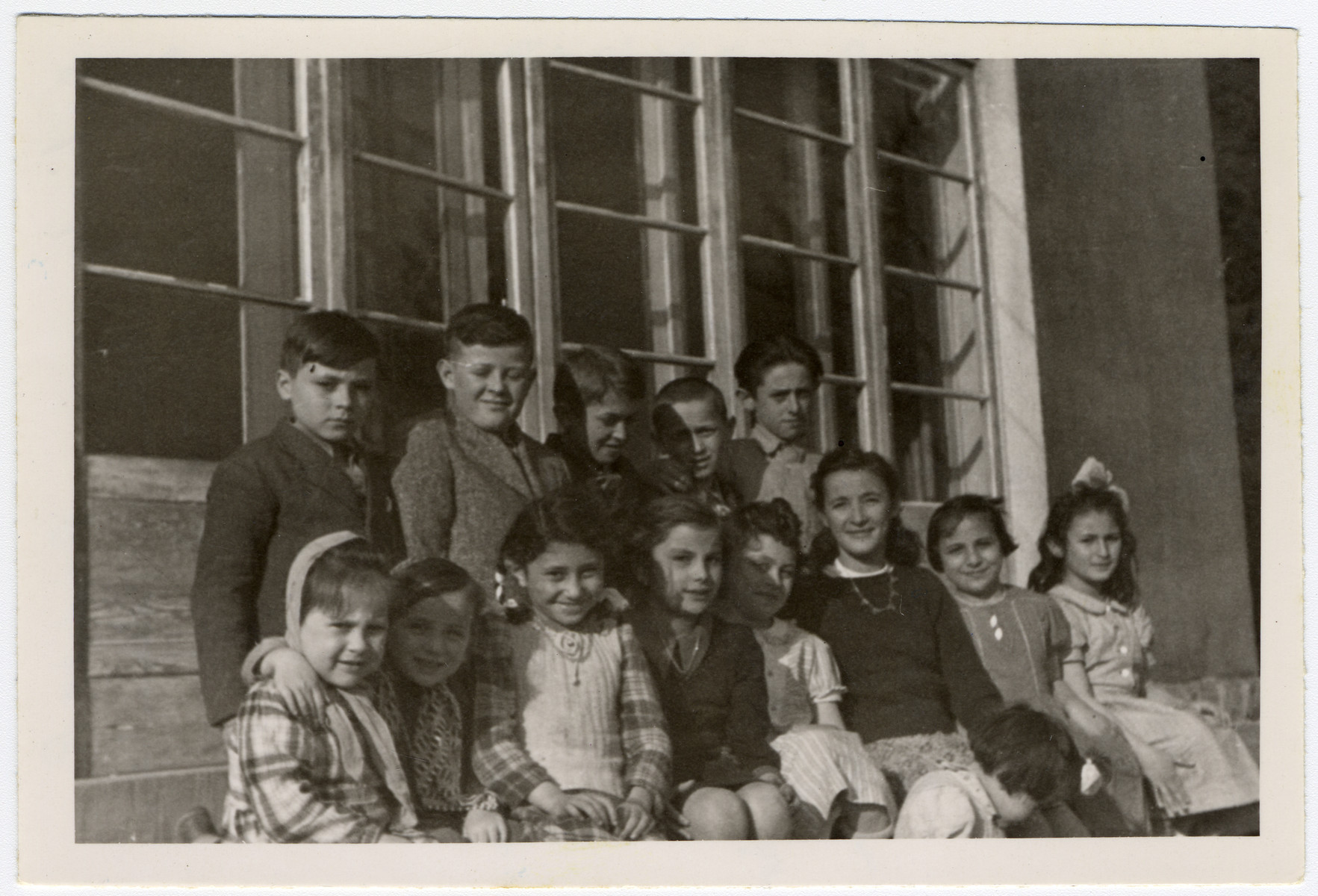 Portrait of young children in the Ziegenhain displaced persons' camp.