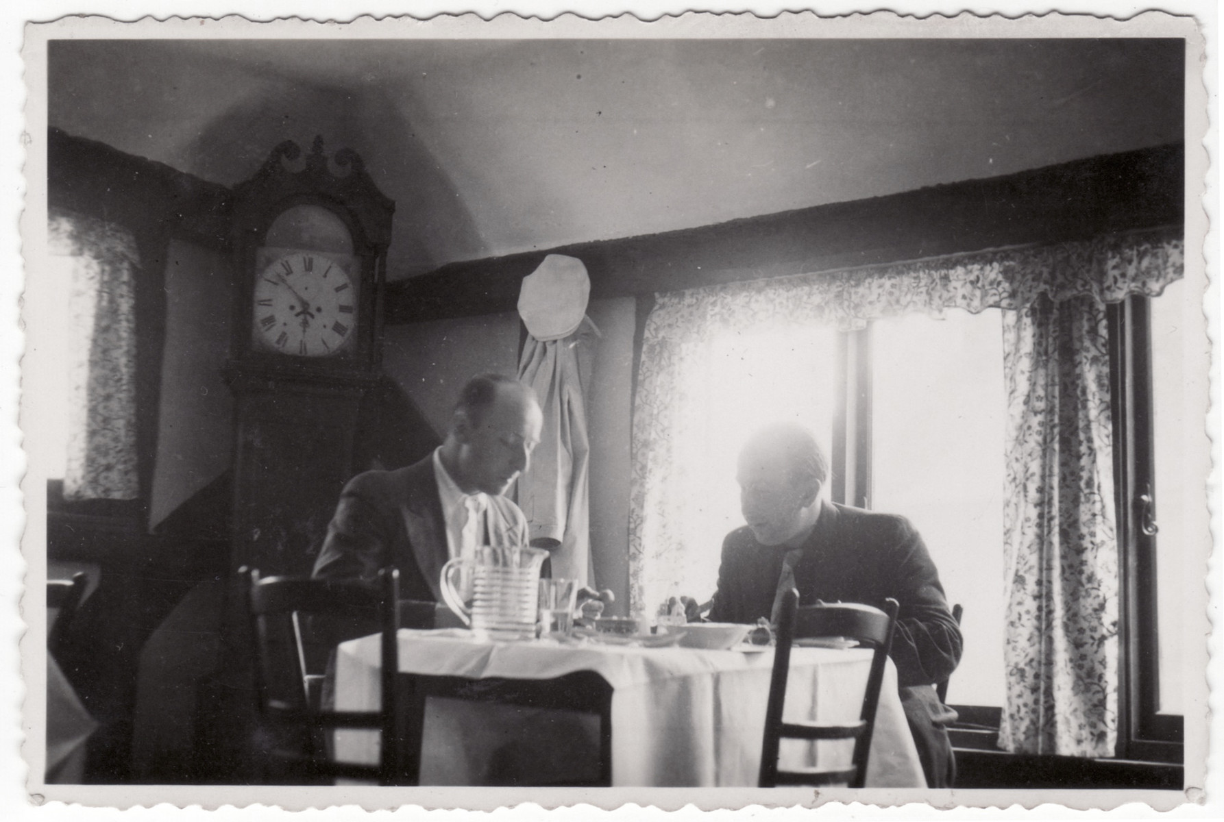Siegfried Kulmann and a friend enjoy a meal while on a day trip to Ramsgate.