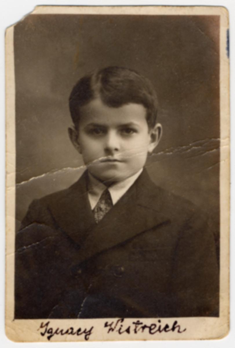 Studio portrait of Ignacy Reginald (Reggie) Wistreichs, a close childhoon friend of Adam Kahane.