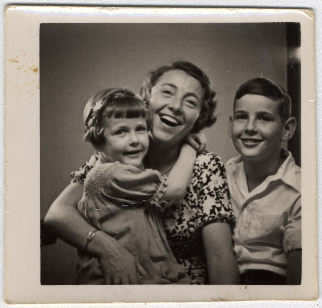 Portrait of the Liebenau family.  Pictured are Irene, Helene and Gerald Liebenau.