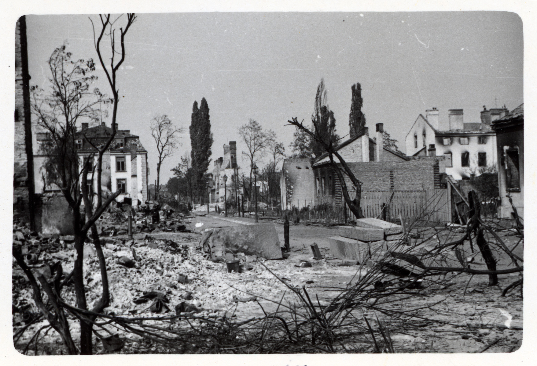 A view of bombed out Warsaw.