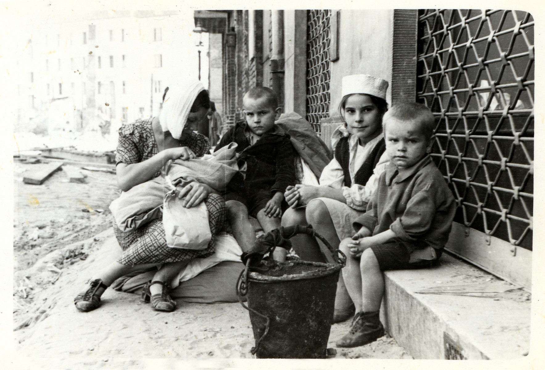 A Polish family lives in desitution on the streets of besieged Warsaw.