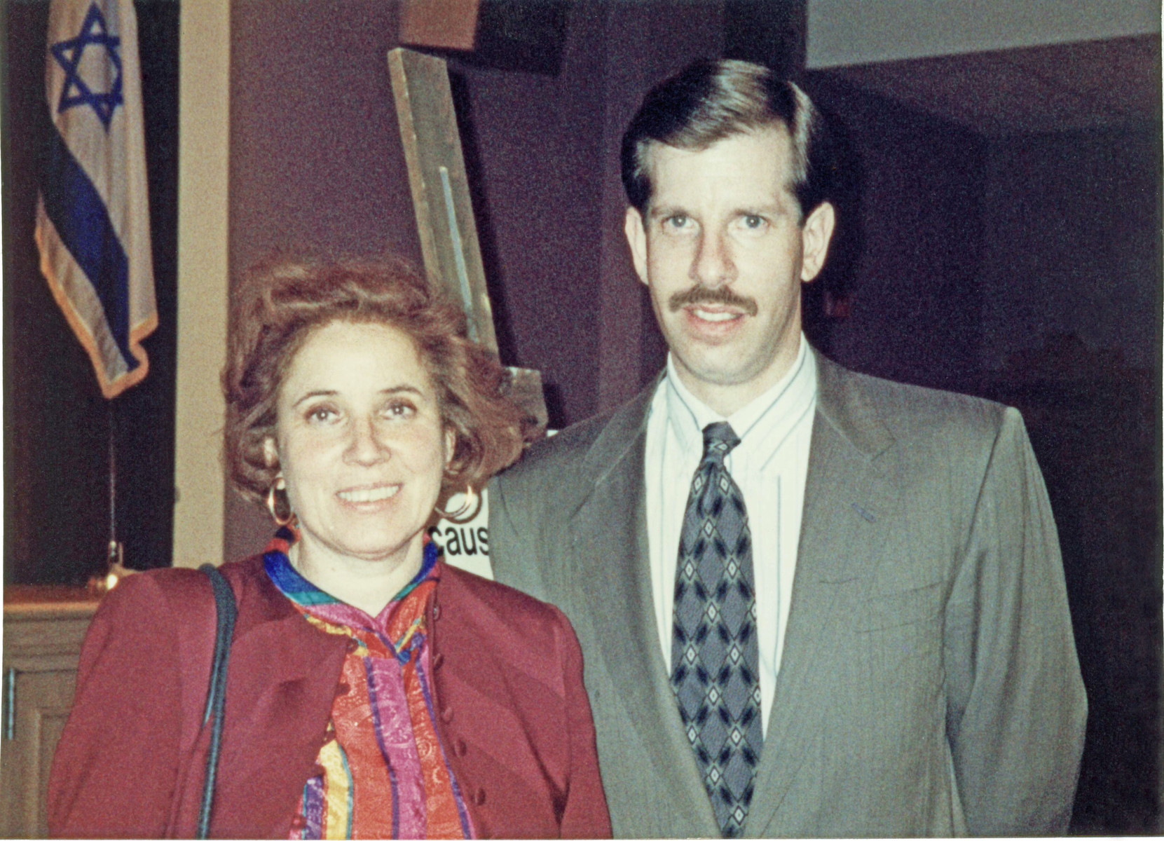 Close-up portrait of Nazi hunter, Beate Klarsfeld and Eli Rosenbaum, Head of the Office of Special Investigations, U.S. Department of Justice.