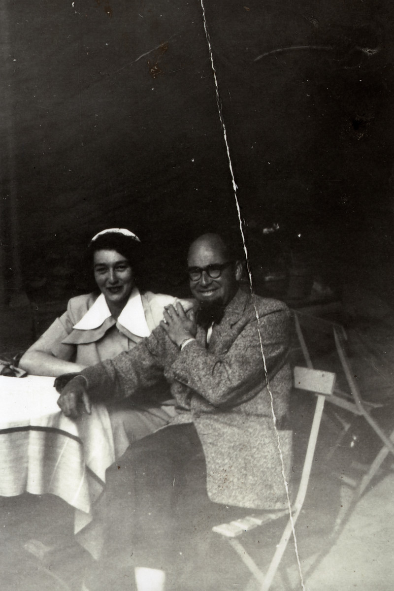 Postwar portrait of Miriam Muller and [Jean] Bolle who had assisted George Mantello and Matthieu Muller in their rescue efforts.