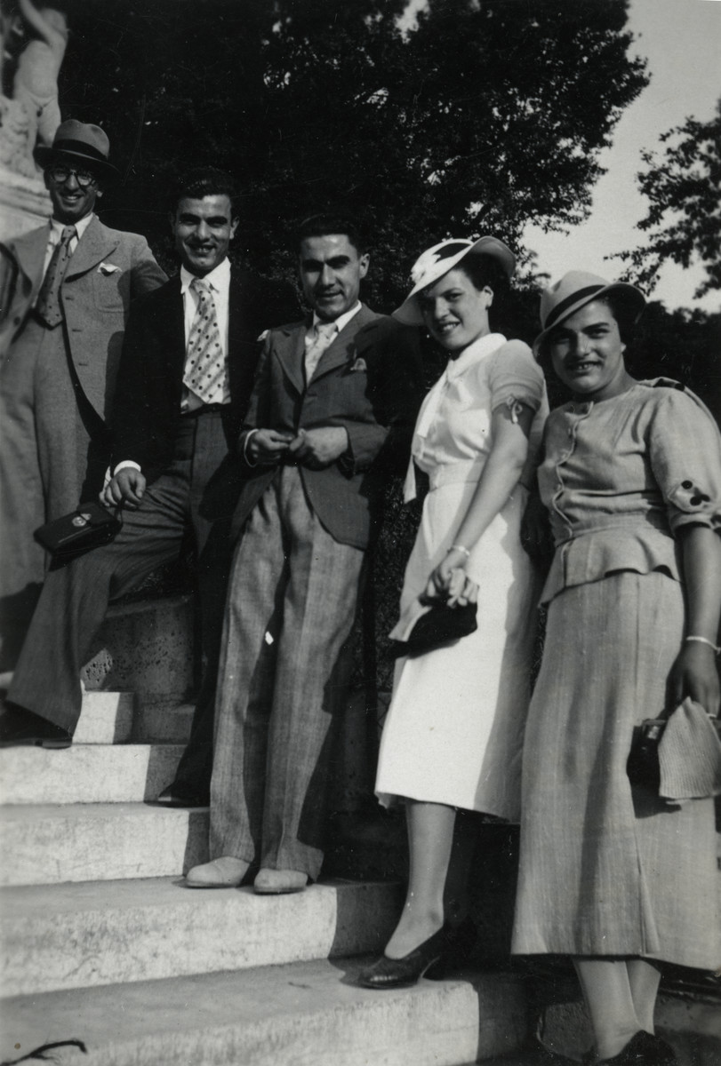 Prewar portrait of the Cassorla family in Bitola, Macedonia.  Rabbi Moise Cassorla is on the far left.  He is posing with his siblings (unidentified).