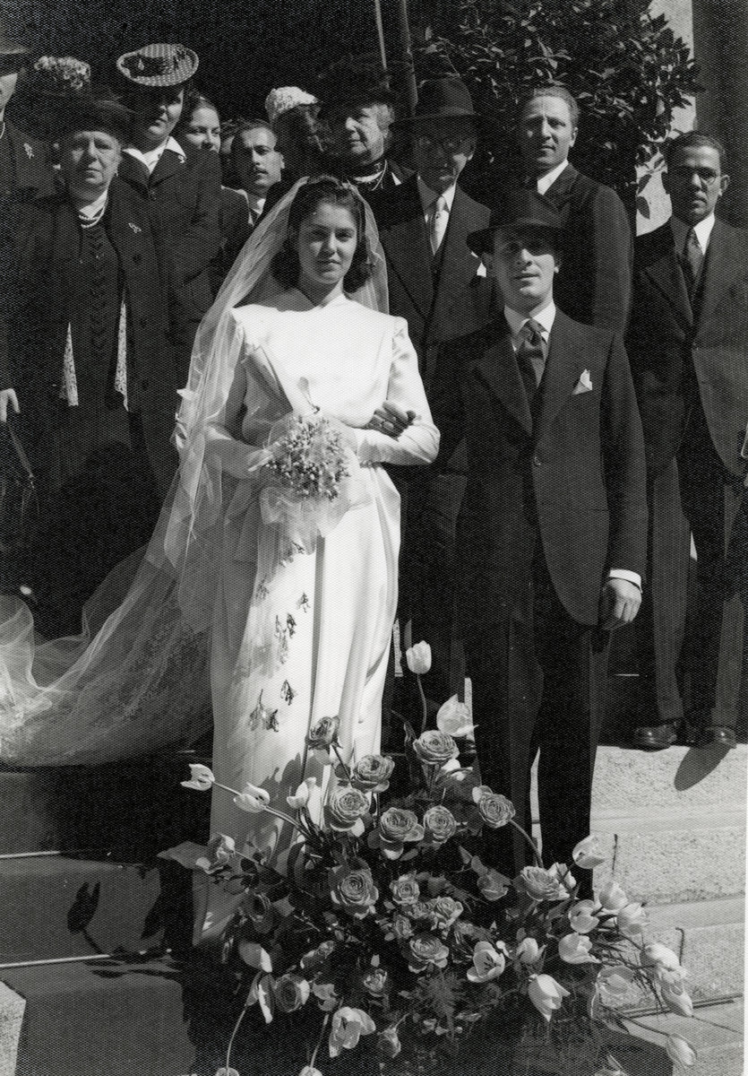 Alda Morpugo and her husband Colorni celebrate their wedding in wartime Genoa.